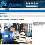 Detroit Lions Donate 300 Thanksgiving Baskets to Starfish Families