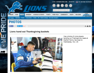 Detroit Lions Thanksgiving small