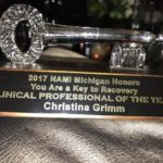 Congratulations Christina Grim for Receiving Clinical Professional of the Year!